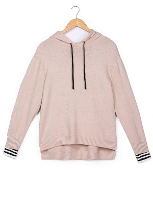 Long Sleeve Shift Casual Solid Sweater_2