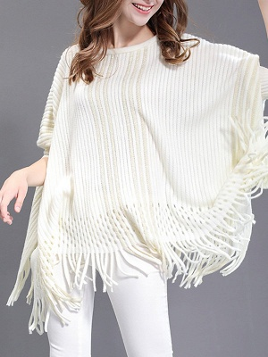Shift Wool Batwing Casual Geometric Sweater_1
