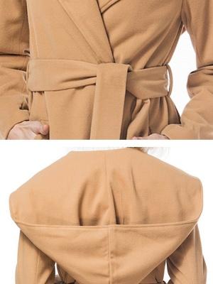 Long Sleeve Hoodie Asymmetrical Solid Casual Coat_7