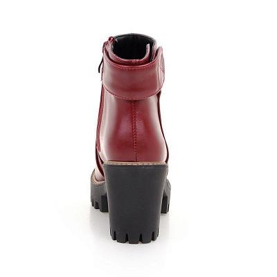 Daily Chunky Heel Zipper Round Toe Boots_19