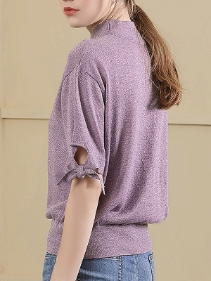 Short Sleeve Casual Shift Sweater_4