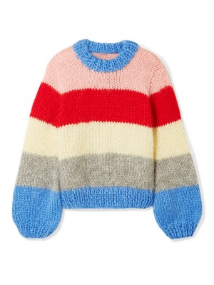 Multicolor Shift Crew Neck Casual Sweater_7
