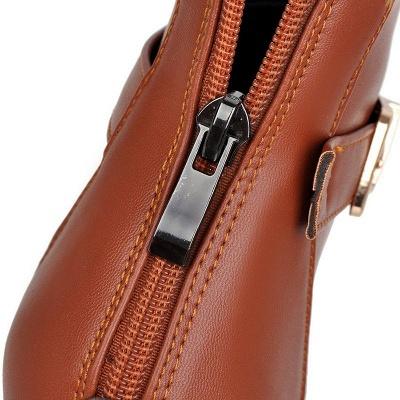 Daily PU Chunky Heel Round Toe Elegant Boots_11