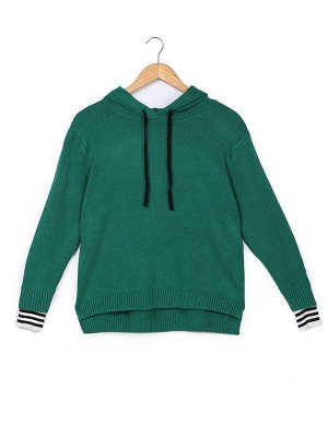 Long Sleeve Shift Casual Solid Sweater_4