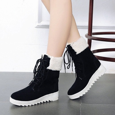 Winter Daily Wedge Heel Lace-up Suede Boot_6