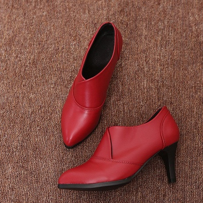Daily Pointed Toe Cone Heel Elegant Boots_1