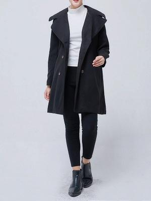 Shawl Collar Long Sleeve Casual Coat_3