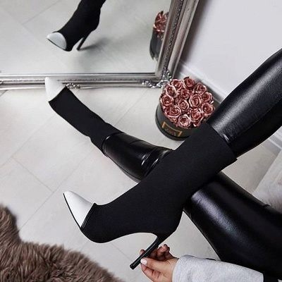 Stiletto Heel Pointed Toe Elegant Boots_4