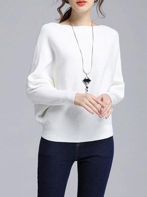 Wool Casual Batwing Sweaters_1