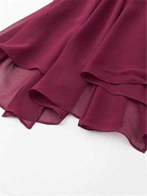 Solid Casual 3/4 Sleeve Shawl Collar Slit Chiffon Coat_7