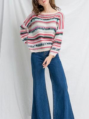 Multicolor Printed Casual Shift Sweater_4