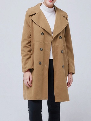 Shawl Collar Long Sleeve Casual Coat_2