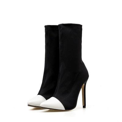 Stiletto Heel Pointed Toe Elegant Boots_1