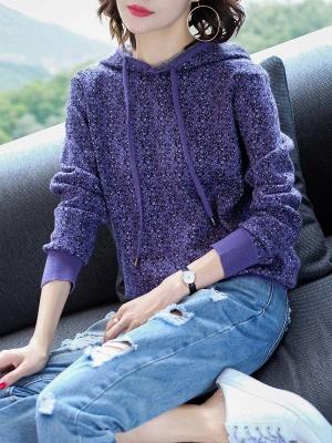 Hoodie Long Sleeve Casual Printed Sweater_2