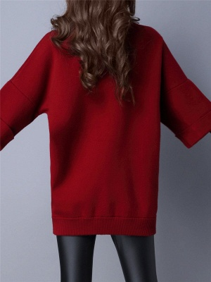 Knitted Wool Turtleneck Sweater_4