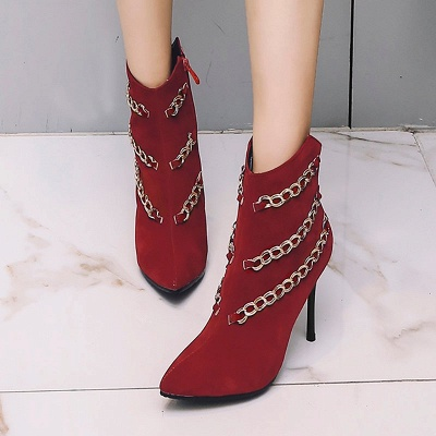 High Heel Suede Chain Boot_1