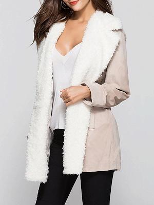 Pockets Casual Solid Long Sleeve Coat_1