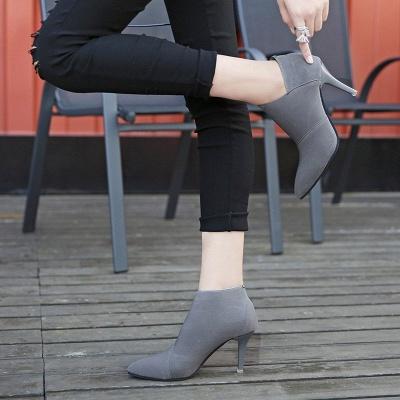 Pointed Toe Stiletto Heel Elegant Boots_7