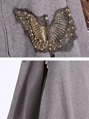 Elegant Plain Cape Sleeve Sweater_7
