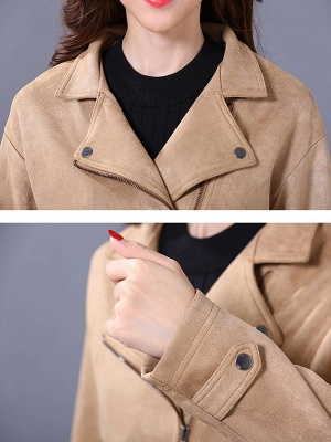 Shift Casual Solid Long Sleeve Coat_6