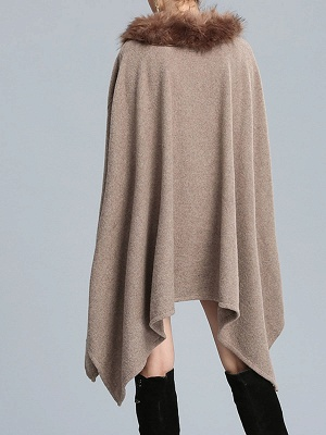 Casual Paneled Wool Shift Batwing Knit Top_5