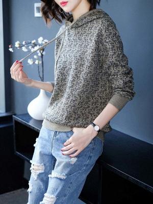 Hoodie Long Sleeve Casual Printed Sweater_1