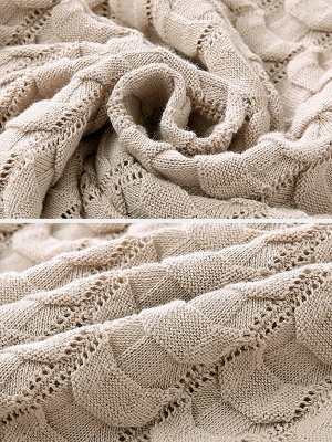 Shift Casual Ice Yarn Knit Cable Sweater_8