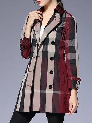 Shift Long Sleeve Checkered/Plaid Work Coat_1