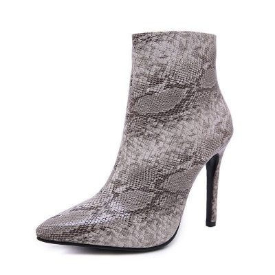 Women's Boots Stiletto Heel Pink Zipper Pointed Toe Sexy Boots_8