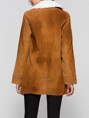 Pockets Casual Solid Long Sleeve Coat_4