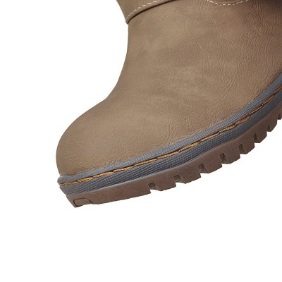 Women's Boots Round Toe Black Low Heel Boots_13