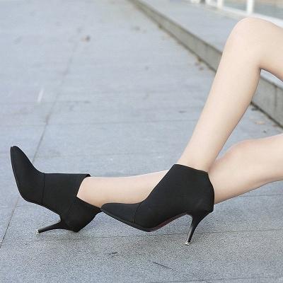 Pointed Toe Stiletto Heel Elegant Boots_6