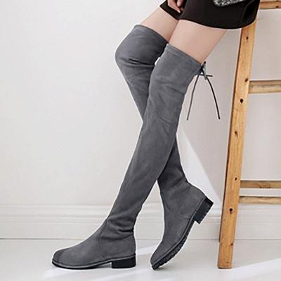 Suede Chunky Heel Buckle Boot_10