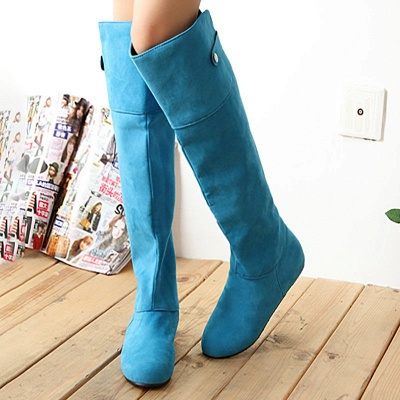 Suede Fall Round Toe Wedge Heel Boot_3