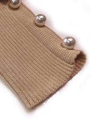 Casual Paneled Turtleneck Long Sleeve Sweater_8