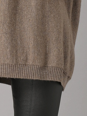Shift Paneled Solid Casual Long Sleeve Sweater_5