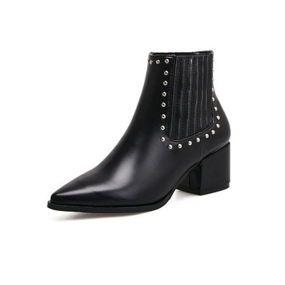 Chunky Heel Daily Pointed Toe Elegant Boots_5
