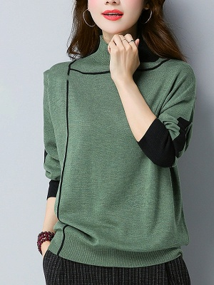 Shift Long Sleeve Casual Sweater_4