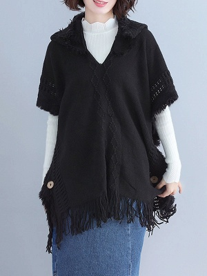 Casual Shift Batwing Sweater_3
