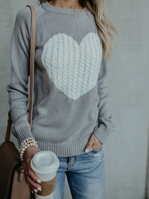Long Sleeve Casual Crew Neck Shift Knit Top_3