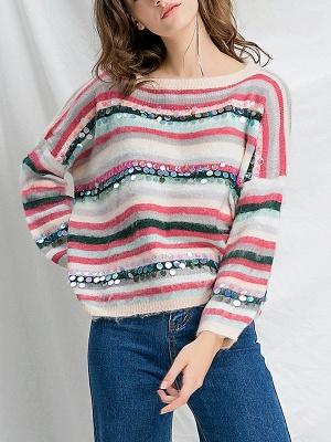 Multicolor Printed Casual Shift Sweater_1