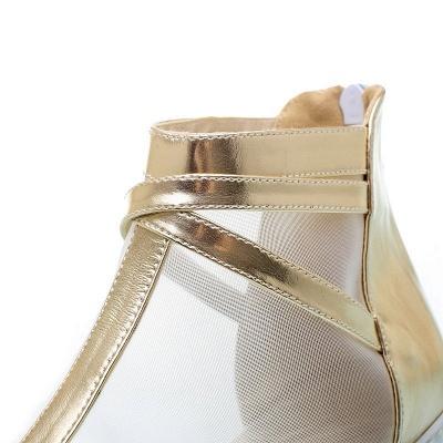 Zipper Daily Peep Toe Wedge Heel Elegant Boots_10
