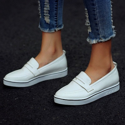 Casual  Pointed Toe Wedge Loafers_1