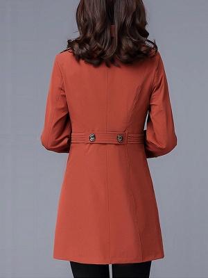Lapel Long Sleeve Casual Buttoned Pockets Paneled Coat_6