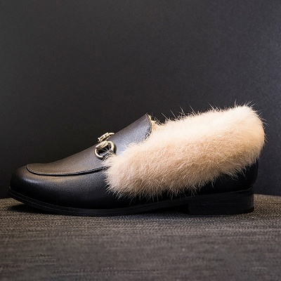 Chunky Heel Round Toe Casual Loafers_9