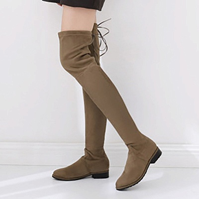 Suede Chunky Heel Buckle Boot_11