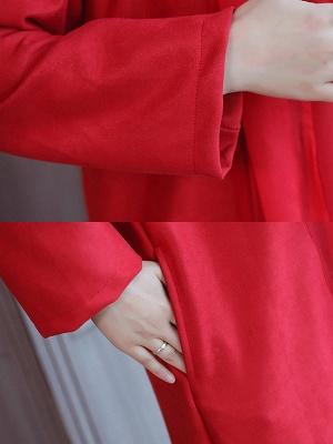 Shawl Collar Shift Embroidered Paneled Coat_8