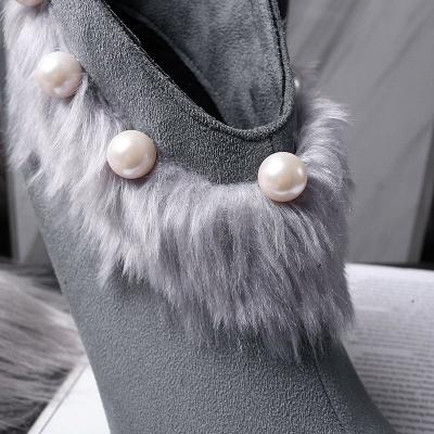 High Heel Zipper Suede Boot_9