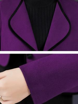 Long Sleeve Work Shawl Collar Coat_8