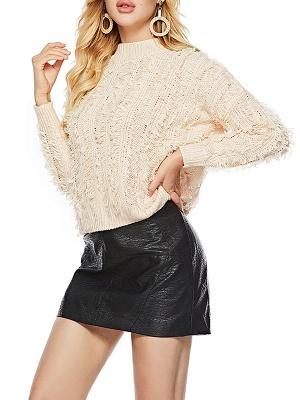 Long Sleeve Casual Geometric Sweater_2